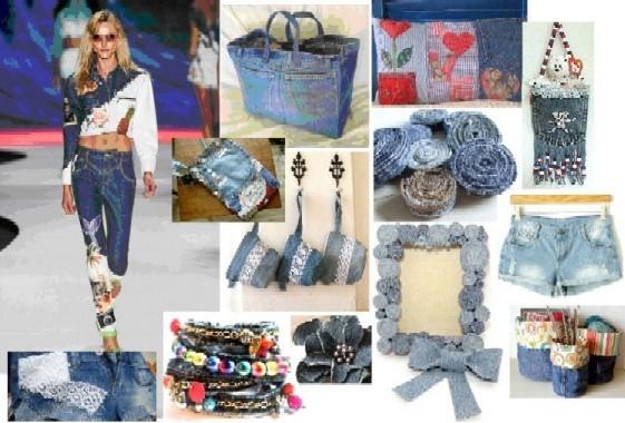 Corso di riciclo creativo del jeans scuola nazionale di for Oggetti usati in regalo